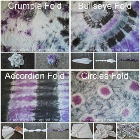 4 Easy Tie Dye Folding Techniques