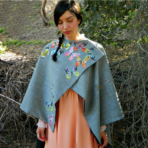 Beautiful Butterfly Cape DIY