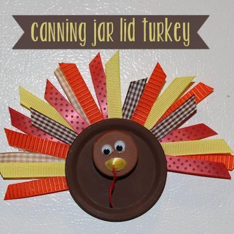 Canning Jar Lid Turkey Craft
