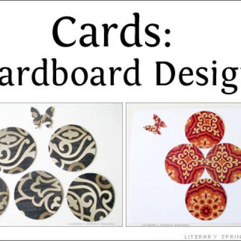 Cardboard Decorated Cards