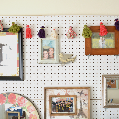 DIY Color Pop Tassel Garland
