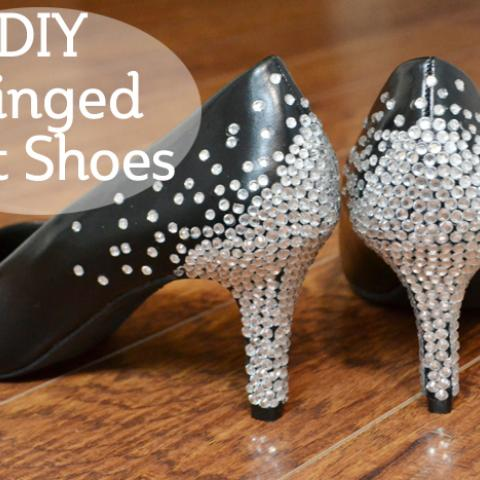 DIY Rhinestone Heels