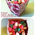 Frayed Fabric Basket Tutorial