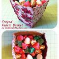 Frayed Fabric Basket Tutorial