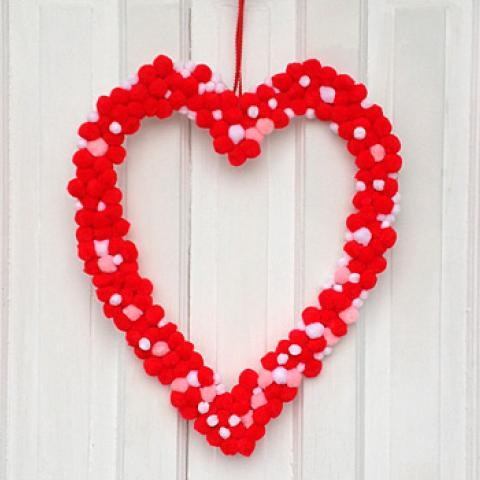 Kid's Craft: Pom-Pom Love