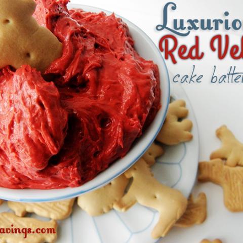 Luxurious Red Velvet Cake Batter Dip