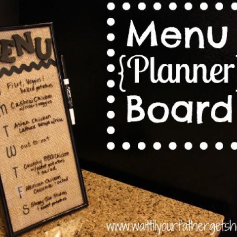 Menu Planning Board