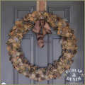 Pine Cone and Moss Wreath