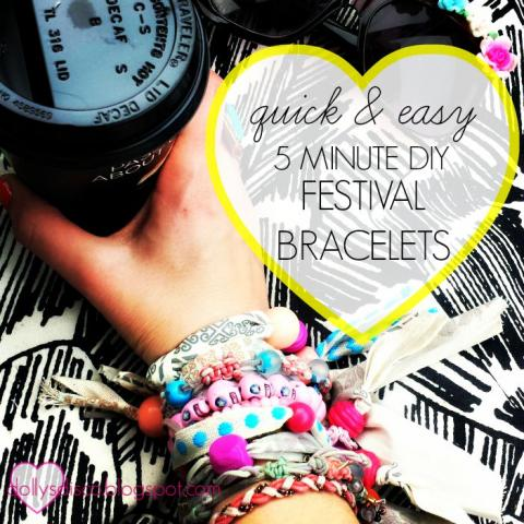 QUICK & EASY 5 MINUTE COACHELLA INSPIRED FESTIVAL BRACELET DIY
