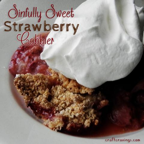 Sinfully Sweet Low Cal Strawberry Cobbler