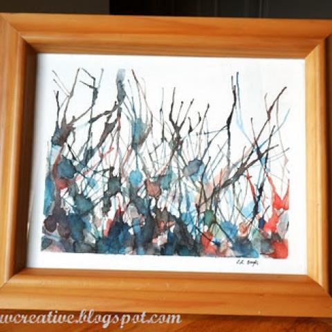 Straw Painting Art Tutorial