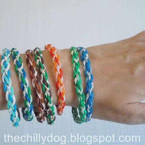 Upcycled Wire Bangle Bracelets