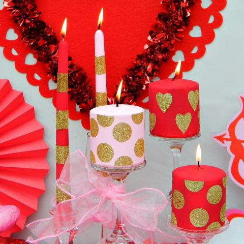 Valentine's Day Candles DIY
