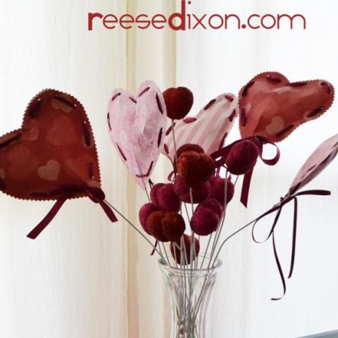 Valentines heart bouquet