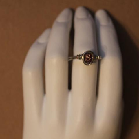 Vintage Book Cover Ring